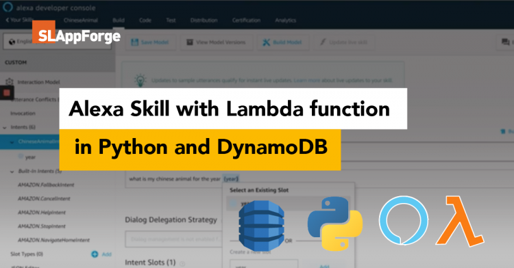 Alexa Skill with Lambda function in Python and DynamoDB