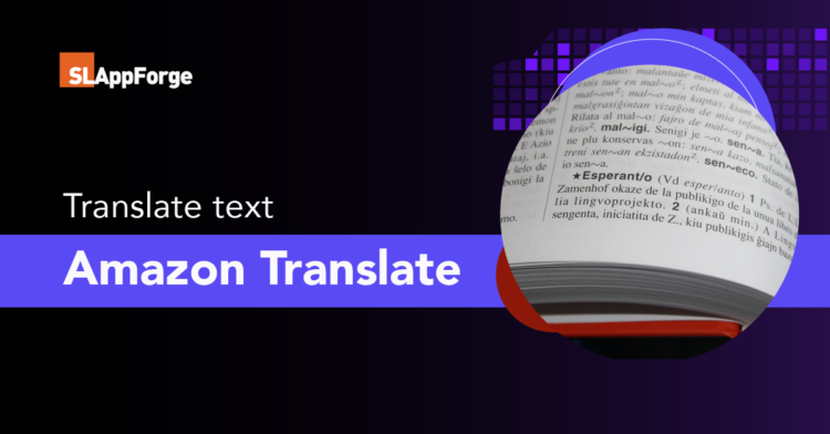 Translate text between the languages using Amazon Translate